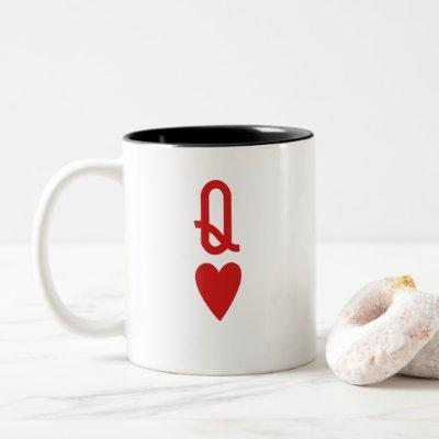 Queen of Hearts Two-Tone Coffee Mug