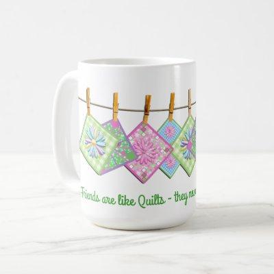 Quilter's Mug - Quote - Closesline-Quilts - White