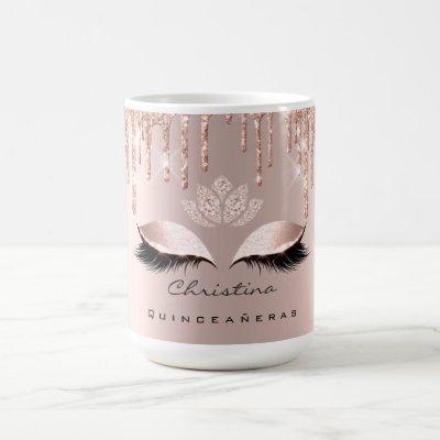 Quinceañeras Sweet 16th Bridal Shower Makeup Lash Coffee Mug