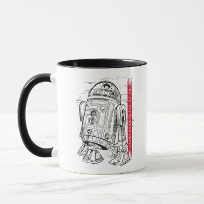 R2-D2 Astromech Droid Sketch Mug