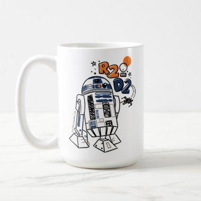 R2-D2 Doodle Coffee Mug