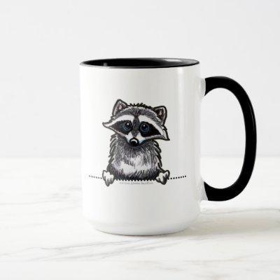 Raccoon Line Art Mug