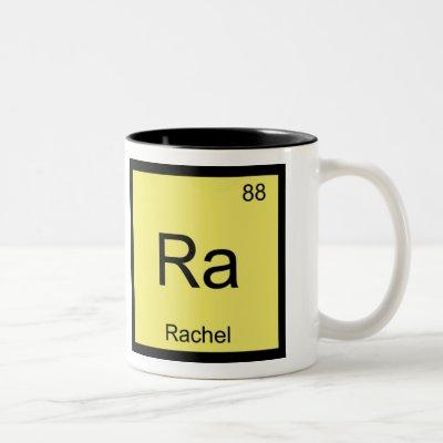 Rachel Name Chemistry Element Periodic Table Two-Tone Coffee Mug