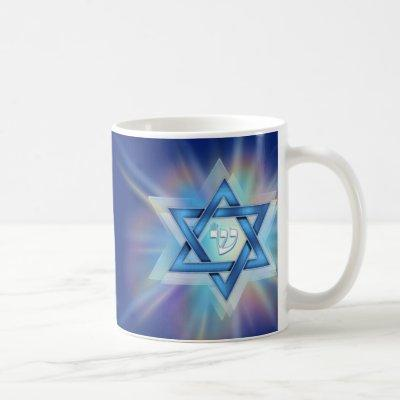 Radiant Star of David Coffee Mug