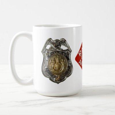 Railway Express Police Badge Coffee Mug