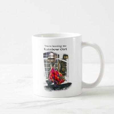 Rainbow Girl 11 oz Classic White Mug