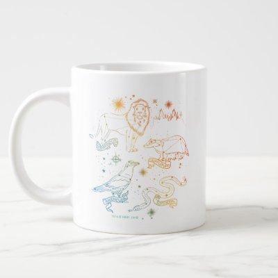 Rainbow HOGWARTS™ Houses Constellations Giant Coffee Mug