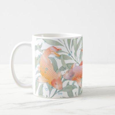 Rainbow Koi Fish with Bubbles - Mug 2