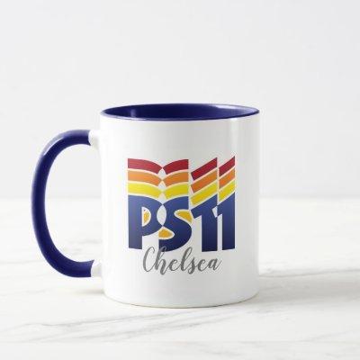 Rainbow Logo PS11 School Mug