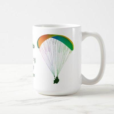 Rainbow Paraglider Graphic Souvenir with Your Text Coffee Mug