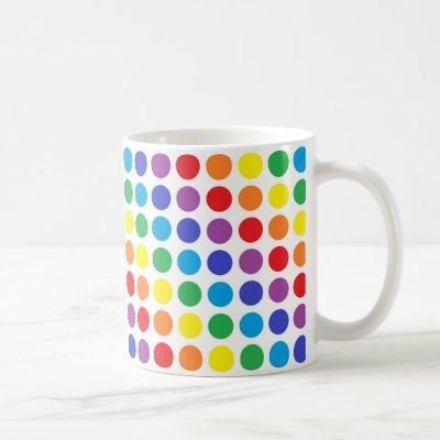 Rainbow Polka Dots Mug
