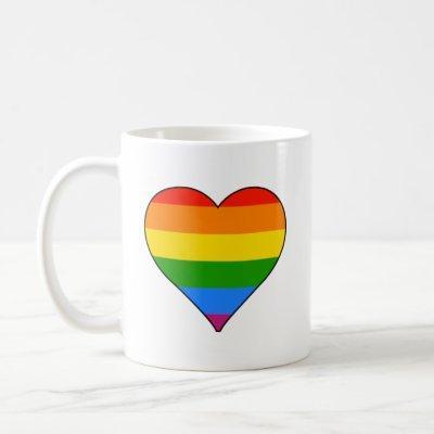 Rainbow Pride Cute Heart Mug