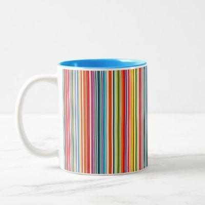 Rainbow Stripe Two-Tone Coffee Mug