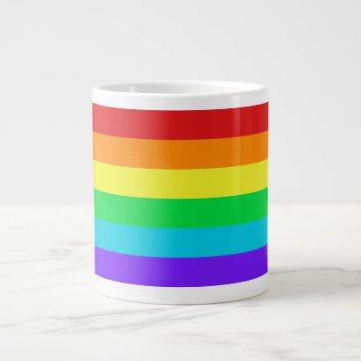 Rainbow Stripes 1 Jumbo Mug