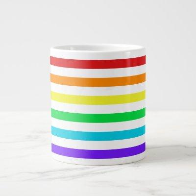Rainbow Stripes 2 Jumbo Mug