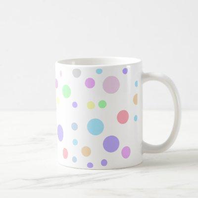 Random pastel polka dots pattern coffee mug
