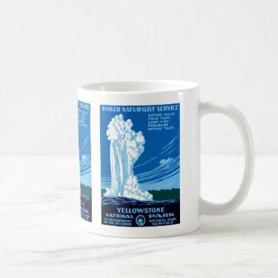 Ranger Naturalist Service ~ Yellowstone Coffee Mug