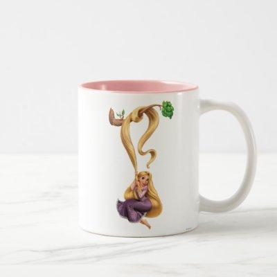 Rapunzel Swinging from Branch 2 Two-Tone Coffee Mug
