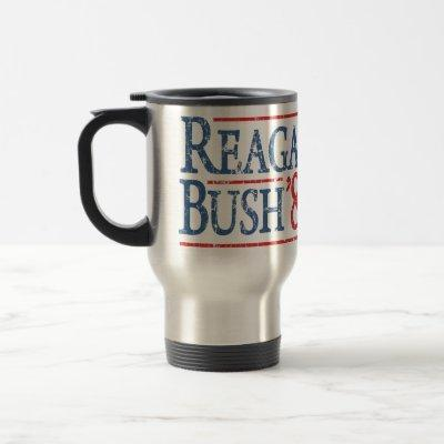 Reagan Bush 84 Retro Election Travel Mug