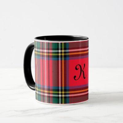 Red and Green Plaid Mug
