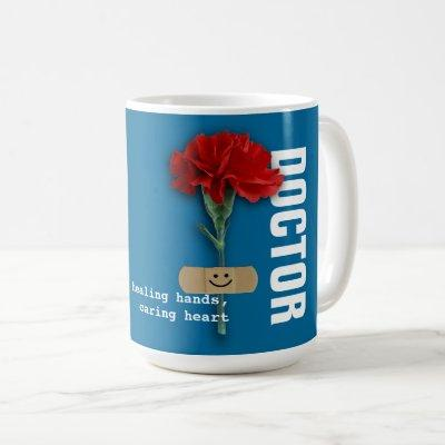 Red Carnation Doctor Appreciation Gift Mugs