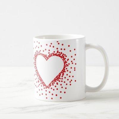 Red Confetti Heart Mug