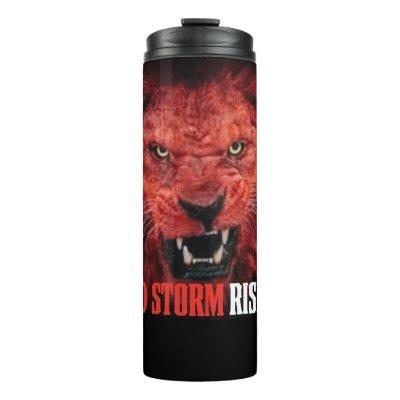 Red Storm Red Wave Midterm MAGA Trump Lion Thermal Tumbler