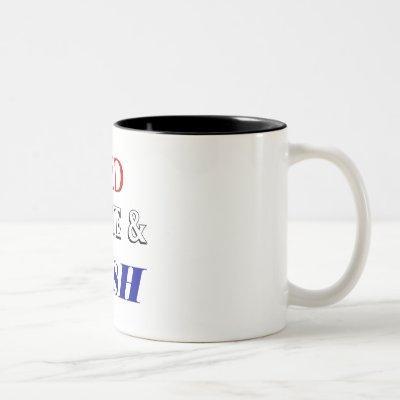 Red white Rush Two-Tone Coffee Mug