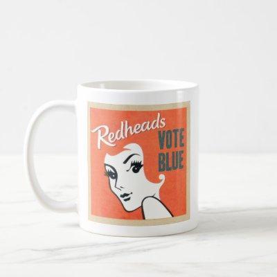 Redheads vote blue coffee mug