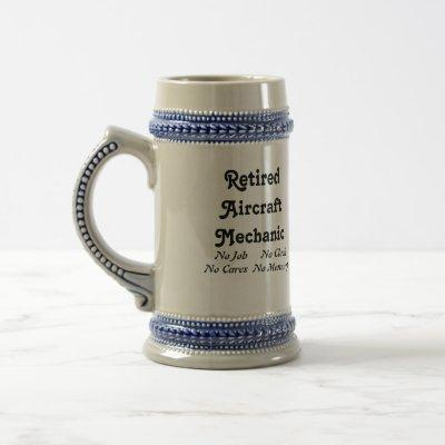 Retired Aircraft Mechanic Beer Stein
