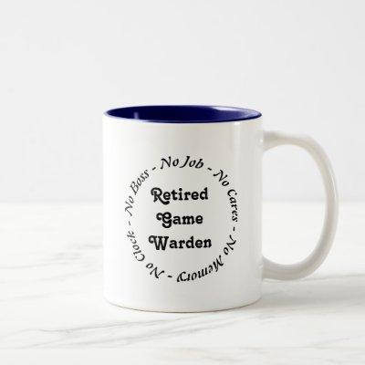 Retired Game Warden Two-Tone Coffee Mug