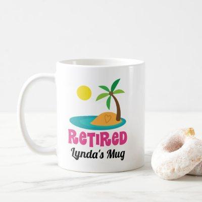 Retired Gift Hawaiian Retirement Party Coffee Mug