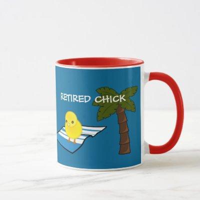 RETIREMENT: Beach Fun--Retired Chick Mug