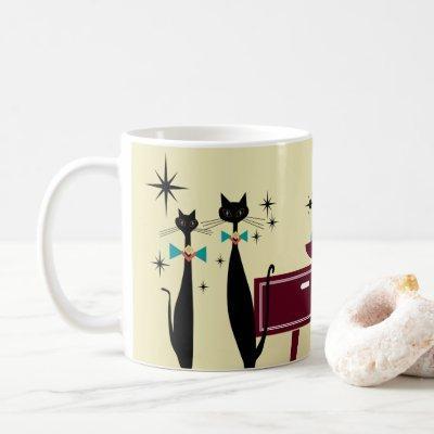 Retro Atomic Era Mid Century Modern MCM Cool Cat y Coffee Mug