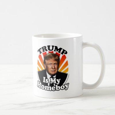 Retro Donald Trump is my Homeboy for President Coffee Mug
