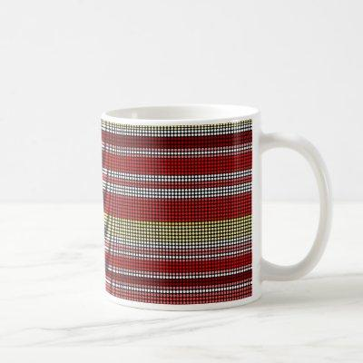 Retro dots stripes Rainbow  - Mugs