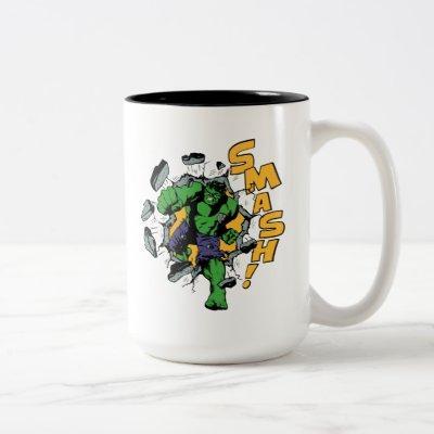 Retro Hulk Smash! Two-Tone Coffee Mug