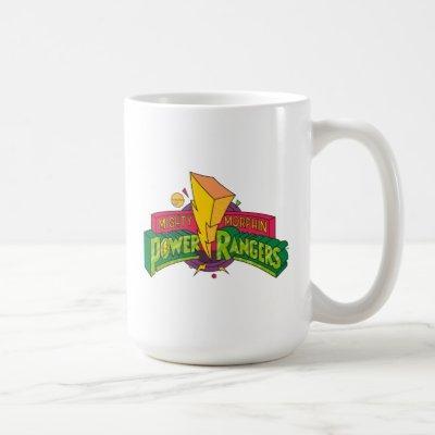 Retro Mighty Morphin Power Rangers Logo Coffee Mug