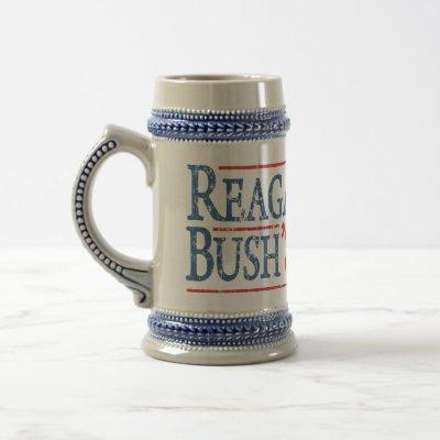 Retro Reagan Bush 84 Election Beer Stein