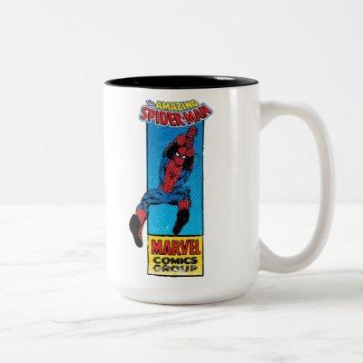 Retro Spider-Man Comic Graphic Two-Tone Coffee Mug