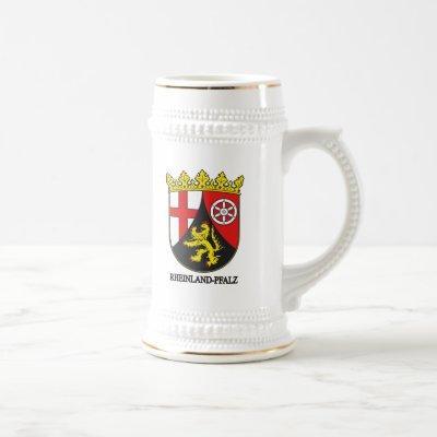 Rheinland-Pfalz (Rhineland-Palatinate) COA Beer Stein