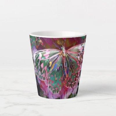 Rising Dawn Butterfly Latte Mug