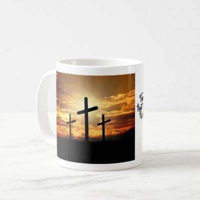 Rising Sun Crucifix Mug