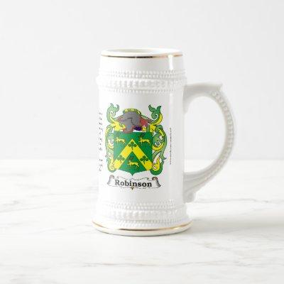 Robinson, the Origin, the Meaning and the Crest on Beer Stein