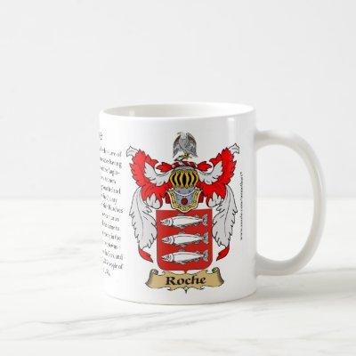 Roche, the Origin, the Meaning and the Crest Coffee Mug