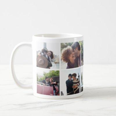 Romantic Travel Couple Photo Collage Mug