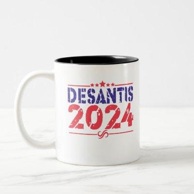 Ron DeSantis 2024 President Election Vintage Gift Two-Tone Coffee Mug