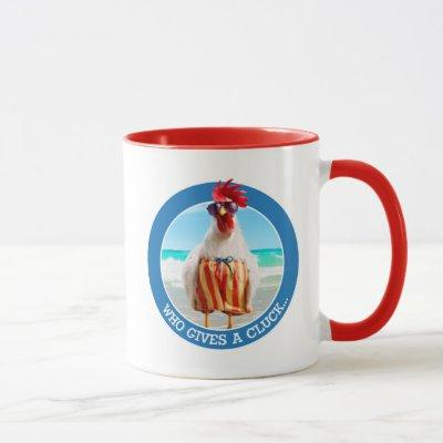 Rooster Dude Chillin' at Beach in Swim Trunks Mug