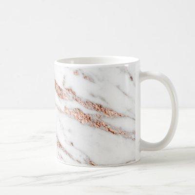 Rose gold vein mug