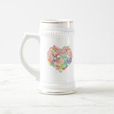 Rose You with All My Heart Beer Stein